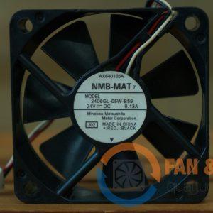 Quạt NMB MAT 2406GL-05W-B59, 24VDC, 60x60x15mm