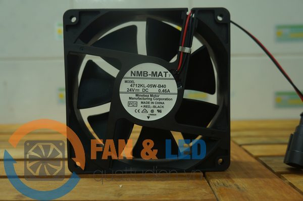 Quạt NMB-MAT 4712KL-50W-B40, 24VDC, 119x119x32mm
