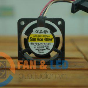 Quạt SANYO DENKI 9WF0424F6D03, 24VDC, 40x40x20mm