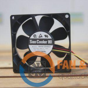 Quạt SANYO DENKI 9A0812S4D01, 12VDC, 80x80x25mm