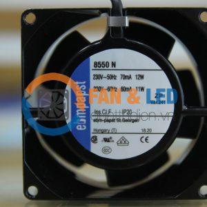 Quạt EBM PAPST 8550N, 230VAC, 80x80x38mm