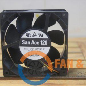 Quạt SANYO DENKI 9G1224G101, 24VDC, 120x120x38mm