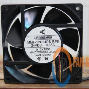 Quạt MELCO MMF-12D24DS-RP6, 24VDC, 120x120x38mm