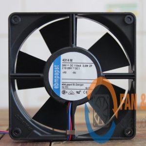Quạt EBMPAPST 4314M, 24VDC, 119x119x32mm