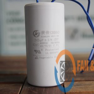 Tụ điện CBB60 30μF ±5%, 450VAC Dây cắm