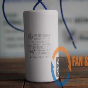 Tụ điện CBB60 40μF ±5%, 450VAC Dây cắm