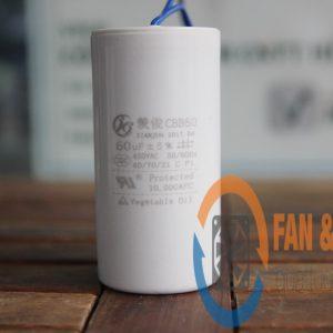 Tụ điện CBB60 60μF ±5%, 450VAC Dây cắm