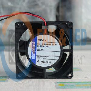 Quạt EBMPAPST 8314H, 24VDC, 80x80x32mm