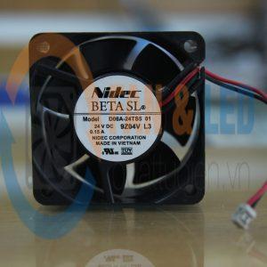 Quạt NIDEC D06A-24TS5 01, 24VDC, 60x60x25mm