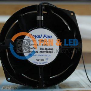 Quạt ROYAL FAN TM670D-TP, 100VAC, 172x150x55mm