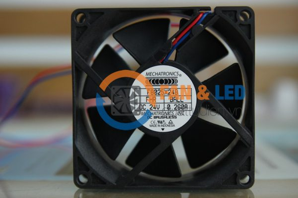 Quạt MECHATRONICS F8025X24B-FHR, 24VDC, 80x80x25mm