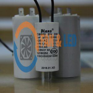 Tụ điện Dianz CBB60 2uF ±5%, 425/475/500VAC Dây cắm có ốc bắt