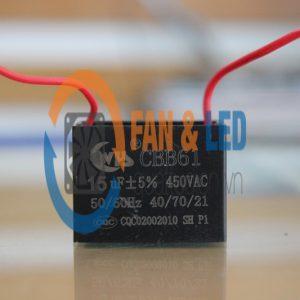 Tụ điện CBB61 15uF ±5%, 450VAC Dây cắm